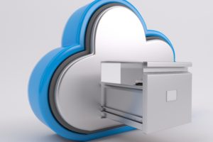 3D Render of Cloud Drive Icon